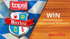 Win 8 tickets to the 2016 TOPS at SPAR Bierfest with The Pundits. Celebrate and join us for an evening of beer and fun! Competition, Join, Beer, Friends, Ale, Amigos, Boyfriends, True Friends