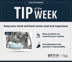 Keep your stock and back rooms neat and organized. #DTTLPTips