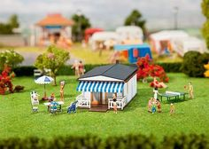 FALLER HO SCALE 1:87 CAMPING BUNGALOW BUILDING KIT | BN | 130272 #Faller Ho Scale Buildings, Diorama, Bungalow, Miniatures, Camping, Kit, Table Decorations, Ebay, Furniture