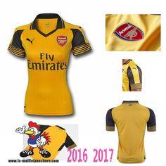 Vente Nouveau Maillot Football Arsenal Exterieur Femme 2016-2017 Personnalisé