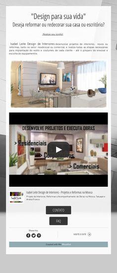 """""""Design para sua vida""""Deseja reformar ou redecorar sua casa ou escritório?"""