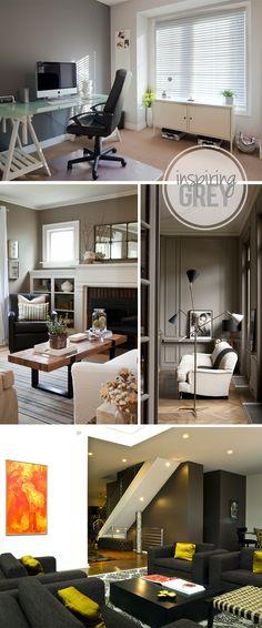 Inspiring Grey Interiors {via My Daily Randomness}