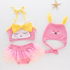 Bear Leader Girls Clothing Set Cute Cat Swimwear Kids Fashion Girl Toddler Swimming Set Bikini Swimsuit for Children Clothing Toddler Girl Dresses, Toddler Outfits, Kids Outfits, Girl Toddler, Baby Outfits Newborn, Baby Girl Newborn, Mom Baby, Baby Girls, Baby Girl Fashion