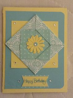 Birthday card, flower from cricut creative cards cartridge, Martha Stewart papers.