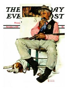 """""""Sheriff and Prisoner"""" Saturday Evening Post Cover, November 4,1939 Giclee Print by Norman Rockwell at Art.com"""