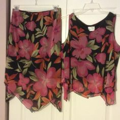 Tropical Skirt set- great for the summer. Skirt set Fashion Bug Skirts Skirt Sets