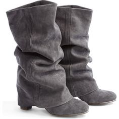 See by Chloé Shoes Suede Fold Down Heeled Boots