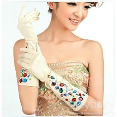 2013 New Arrival Beading Bridal Gloves