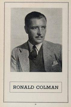 1936 Ronald Coleman Movie Silent Film Actor British - ORIGINAL MOVIE