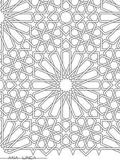 """""""Azulejos árabes"""". Disponible para colorear en https://chocolateillustration.com/ilustraciones/azulejos-arabes/ Aquí te mostramos un primer plano de la ilustración que puedes descargarte. #chocolateillustration #dibujosparapintar #colorear #yocoloreo #analinea #azulejosarabes"""