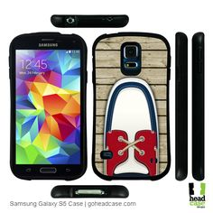 Head Case Red Boat Shoes Hybrid Gel Case for Samsung Galaxy S5