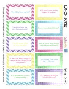 Fun printable Easter Jokes for kids and adults to enjoy. Print these Easter lunch Jokes notes to slip into your kids lunches. They are fun for all ages! Lunch Box Notes, School Lunch Box, School Fun, Back To School, School Lunches, Kid Lunches, School Ideas, Spring Jokes, Easter Jokes