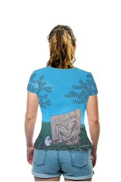BIRTH by Janina Marcos, Galerie Freiraum, OArtTee specializes in creating amazing, vibrant and colorful Wearable Art