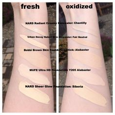 Pale foundation/BB/concealer swatches - Imgur