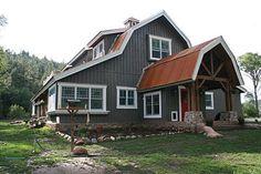 Entrance to a beautiful barn home!  www.sandcreekpostandbeam.com https://www.facebook.com/SandCreekPostandBeam