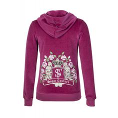 Embellished Jacket in Velour Hoodies, Sweatshirts, Couture, Sweaters, Jackets, Collection, Fashion, Down Jackets, Moda