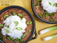 Vegan Red Beans and Rice (I threw everything in the CROCKPOT and made my rice in my rice cooker)