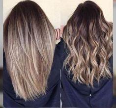 Blonde balayage hair. Medium length. by rena