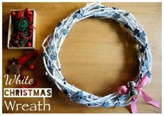 DIY Corona de Navidad en Blanco. Dreaming of a White christmas wreath.