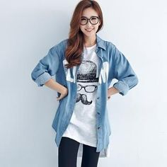 Buy 'BAIMOMO – Lettering Denim Shirt' with Free Shipping at YesStyle.ca. Browse and shop for thousands of Asian fashion items from Taiwan and more!