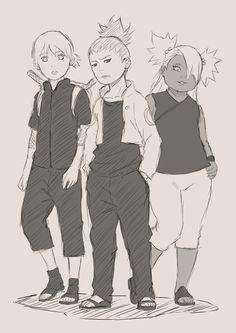 Inojin, Shikadai and Chouchou.
