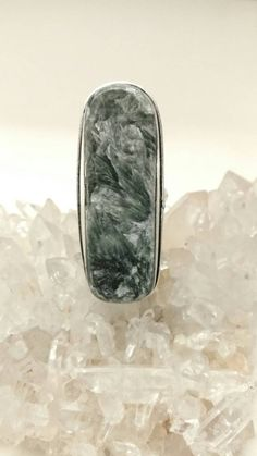 Seraphinite Ring, Size 7 by KarinsForgottenTreas on Etsy