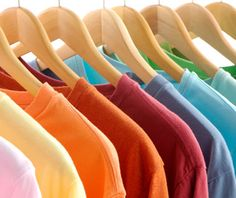 Organizing your closet Light to Dark, Left to Right make it much easier to put outfits together!