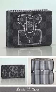 Louis Vuitton Damier Graphite Canvas Multiple Trunks & Locks Wallet (Fall 2013 Limited Edition)