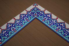 İkbal Çini | Cami Çinileri-10x20 Bordür Çini Dekor