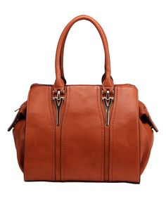 Another great find on #zulily! MKF Collection Brown Embellished Satchel by MKF Collection #zulilyfinds
