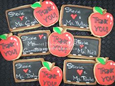 Sweet Handmade Cookies - chalkboard cookies, apple cookies