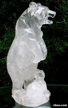 Quartz Rock Crystal Polar Bear