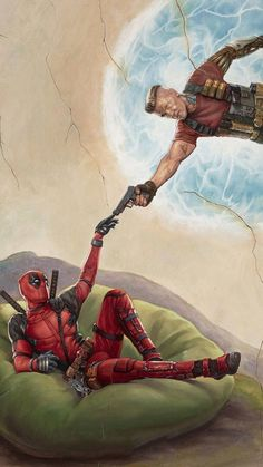 You are watching the movie Deadpool 2 on Putlocker HD. Wisecracking mercenary Deadpool battles the evil and powerful Cable and other bad guys to save a boy's life. Deadpool Wallpaper, Marvel Wallpaper, Films Marvel, Marvel Memes, Marvel Avengers, Deadpool 2 Movie, Deadpool Art, Marvel Background, Images Gif