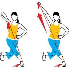 Sterke armen en benen met de fitnessband