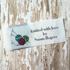 Knitting Labels, Quilting Labels, Crochet Fabric Labels, Woven Labels, Personalized Labels for Crafts, Sewing Labels, Labels with Sheep