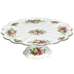 Royal Albert Old Country Roses Footed Cake Plate