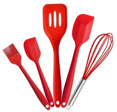 CENTH Premium Silicone Baking Set, Silicone Kitchen Tools Kitchen Cooking Utensil with Hygienic Solid Coating, largeandsmall Spatula Basting Brush,Whisk 5 piece > Awesome product. Click the image at  : bakeware