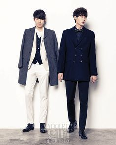 Lee Jong Suk and Kim Woo Bin in Vogue Girl Korea 1