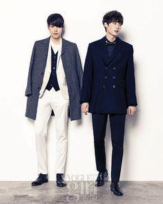 Lee Jong Suk and Kim Woo Bin in Vogue Girl Korea 1