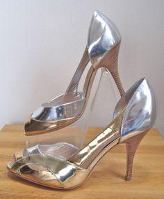 GIUSEPPE ZANOTTI sz 37, NEW Metallic Gold Silver Peep Toe Pumps sz 7, on ebay