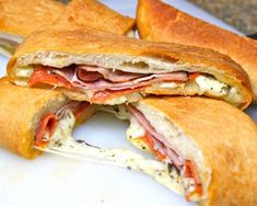 Are you ready for some football??  Layered with Black Forrest Ham, low fat pepperoni and cheeses, this stromboli is a sure winner!