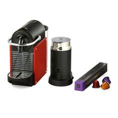 Magimix Nespresso Pixie Coffee Machine with Aeroccino - Carmine Red