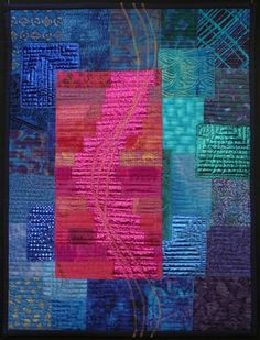Walking on the right side | Ineke van Unen – art quilts – textile art