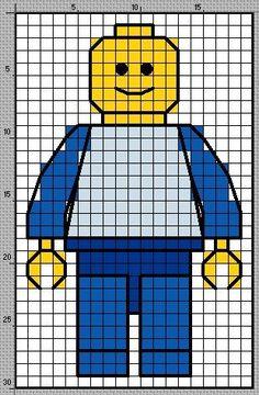 lego cross stitch patterns | Tündérzug: Hímzett LEGO-figurák - Stitched LEGO figures:
