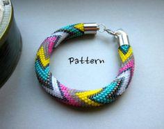 Bead Crochet Pattern: Large Dimensional by WearableArtEmporium