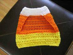 Crochet a Candy Corn Pet Sweater!
