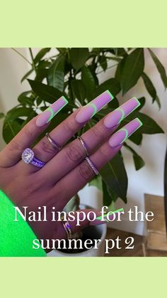 Bling Acrylic Nails, Acrylic Nails Coffin Short, Best Acrylic Nails, Acrylic Nail Designs, Acrylic Nails Green, Fancy Nails Designs, Acylic Nails, Nails Design With Rhinestones, Fire Nails