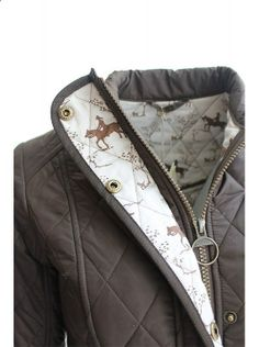 Barbour ladies Emily Bond horse print cavalry quilted jacket