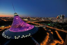 Veteran National Geographic photojournalist Gerd Ludwig explores Astana, Kazakhstan, and uncovers an eclectic, visually arresting new metropolis. Futuristic Architecture, Amazing Architecture, Architecture Design, Norman Foster, Beijing, Resorts, Guggenheim Bilbao, Central Asia, After Dark
