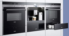 Click image to enlarge From Siemens Appliances come several innovative appliances that offer matching design characterized by smooth stainless steel surfaces, shiny black glass and Read